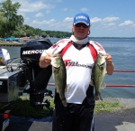 Glenn P. With Day 2 Lunker at Cayuga Lake, 7/14/13