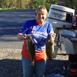 Lynn P. at Oneida Lake, 10/13/13