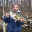 Steve R. at Merrill Creek With a 7+ lb pig, 4/27/14